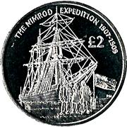 2 Pounds - Elizabeth II (Nimrod Expedition) – reverse