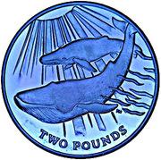 2 Pounds - Elizabeth II (Blue Whale) – reverse