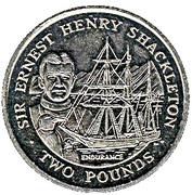 2 Pounds - Elizabeth II (Sir Ernest Henry Shackleton) – reverse
