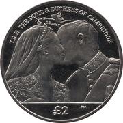 2 Pounds - Elizabeth II (Birth of Prince George) – reverse