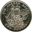 2 Pounds - Elizabeth II (Sir Joseph Banks) – reverse