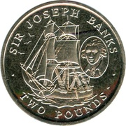 2 Pounds - Elizabeth II (Sir Joseph Banks) – reverse