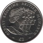 2 Pounds - Elizabeth II (Oldest Reigning Monarch) – reverse