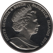 2 Pounds - Elizabeth II (25th Anniversary of Liberation) – obverse