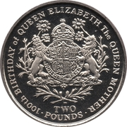 2 Pounds - Elizabeth II (Queen Mother) – reverse