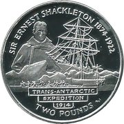 2 Pounds - Elizabeth II (Sir Ernest Shackleton) – reverse