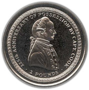 2 Pounds - Elizabeth II (Captain James Cook) – reverse