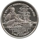 2 Pounds - Elizabeth II (Sir Ernest Shackleton) – reverse