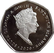 50 Pence - Elizabeth II (Gentoo Penguin) – obverse