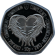 50 Pence - Elizabeth II (Angel Wings) – reverse