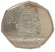 50 Pence - Elizabeth II (RRS Discovery) – reverse