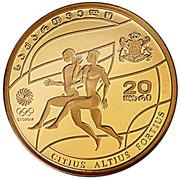 20 Lari (Olympics 2008; Gold Issue) – obverse
