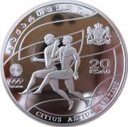 20 Lari (Olympics 2008) – obverse