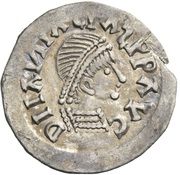 ¼ Siliqua - In the name of Anastasius I, 491-518 & Theoderic, 475-526 (Sirmium; retrograde S with angled bust) – obverse