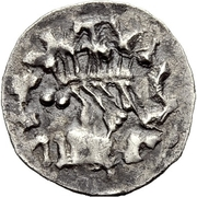 ¼ Siliqua - In the name of Justinian I, 527-565 & Theoderic, 475–526 (Sirmium; with stars) – obverse