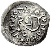 ¼ Siliqua - In the name of Justin I, 518-527 & Theoderic, 475–526 (Sirmium; regular S with angled bust) – reverse