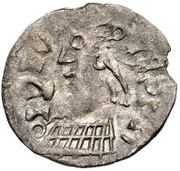 ½ Siliqua - In the name of Meaningless Legend (Sirmium; bust facing left) – obverse