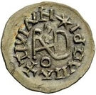 ¼ Siliqua - In the name of Justin I, 518-527 & Theoderic, 475–526 (Sirmium; retrograde S with flat bust) – reverse