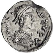 ½ Siliqua - In the name of Anastasius I, 491-518 (Sirmium; large bust with SRW) – obverse