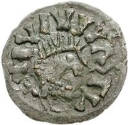 ¼ Siliqua - In the name of Justin I, 518-527 & Theoderic, 475–526 (Sirmium; without S) – obverse