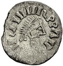 ¼ Siliqua - In the name of Justin I, 518-527 & Theoderic, 475–526 (Sirmium; retrograde S with body-less bust) – obverse