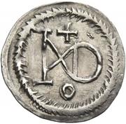 ¼ Siliqua - In the name of Justin I, 518-527 & Theoderic, 475–526 (Sirmium) – reverse