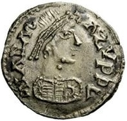 ½ Siliqua - In the name of Anastasius I, 491-518 (Sirmium; large bust with flat back and SRM) – obverse