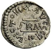 ½ Siliqua - In the name of Anastasius I, 491-518 (Sirmium; large bust with flat back and SRM) – reverse