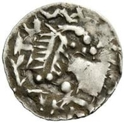 ¼ Siliqua - In the name of Justinian I, 527-565 & Theoderic, 475–526 (Sirmium; without stars) – obverse