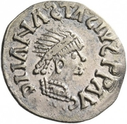 ¼ Siliqua - In the name of Anastasius I, 491-518 & Theoderic, 475-526 (Sirmium; regular S with angled bust) – obverse