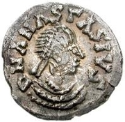 ¼ Siliqua - In the name of Anastasius I, 491-518 & Theoderic, 475-526 (Sirmium; regular S with rolled bust) – obverse
