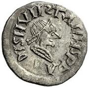 ¼ Siliqua - In the name of Anastasius I, 491-518 & Theoderic, 475-526 (Sirmium; retrograde S with backwards monogram) – obverse