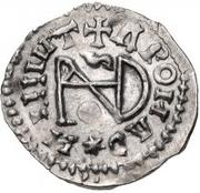 ¼ Siliqua - In the name of Anastasius I, 491-518 & Theoderic, 475-526 (Sirmium; horizontal S) – reverse