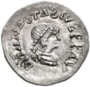 ¼ Siliqua - In the name of Anastasius I, 491-518 & Theoderic, 475-526 (Sirmium; retrograde S with flat bust) – obverse