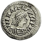 ¼ Siliqua - In the name of Anastasius I, 491-518 & Theoderic, 475-526 (Sirmium; regular S with bust in legend) – obverse