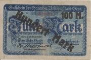 100 Mark (overstamp on 5 Mark) – obverse