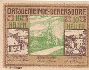 10 Heller (Gerersdorf) – obverse