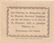 10 Heller (Gerersdorf) – reverse
