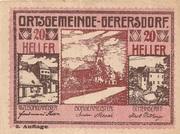 20 Heller (Gerersdorf) – obverse