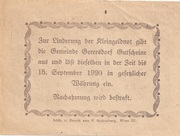 20 Heller (Gerersdorf) – reverse