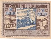 50 Heller (Gerersdorf) -  obverse