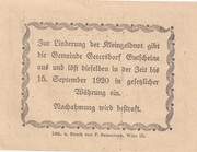 50 Heller (Gerersdorf) -  reverse