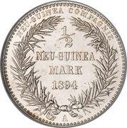 ½ Mark - Wilhelm II – reverse