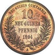 10 Pfennig - Wilhelm II – reverse