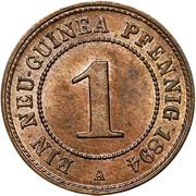 1 Pfennig - Wilhelm II – reverse