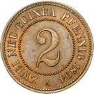 2 Pfennig - Wilhelm II – reverse