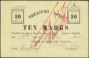 10 Marks (Australian occupation; treasury note) – obverse