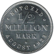 ½ Million Mark (Hamburg) [Freie und Hansestadt] – reverse