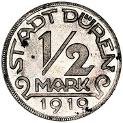 ½ Mark (Düren) [Stadt, Rheinprovinz] – obverse