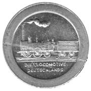 100 Pfennig (Nürnberg-Fürth) [Railroad, Bavaria] – reverse